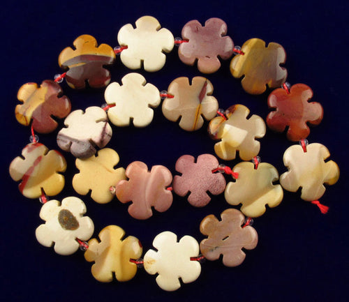 Mookaite Jasper Beads 20 flower power beads