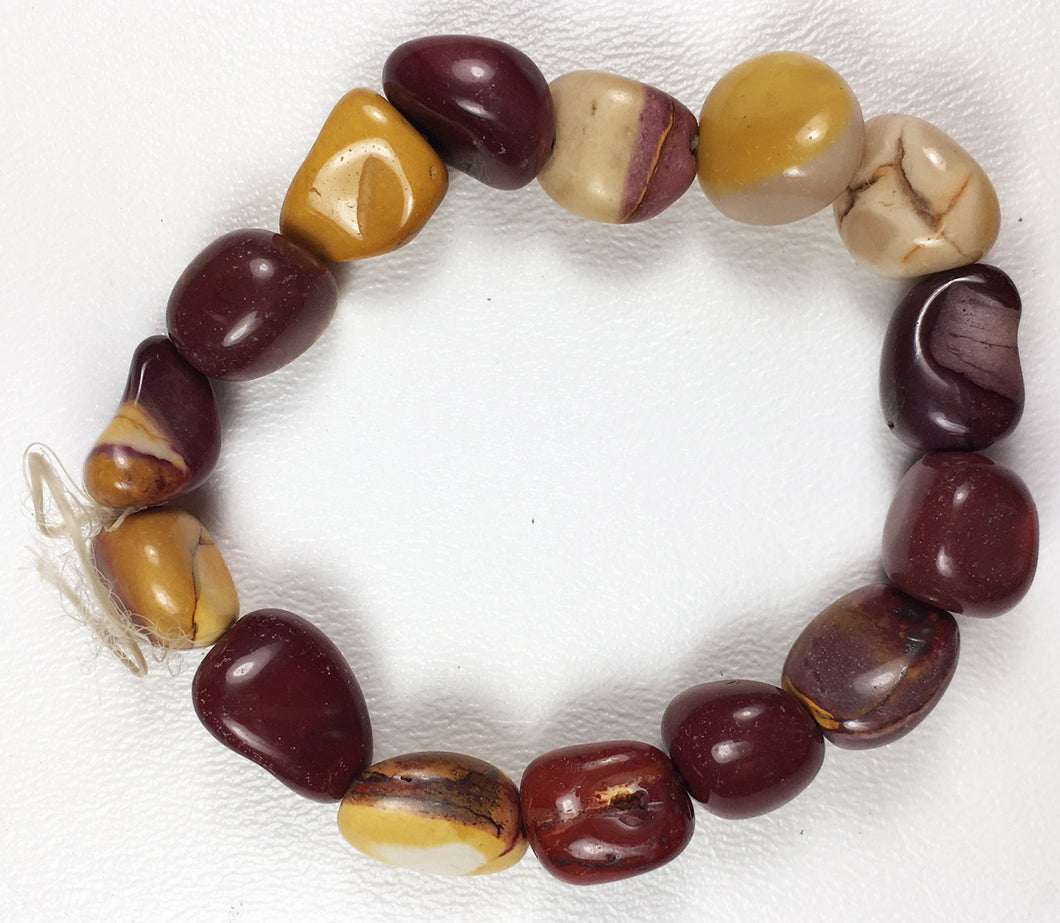 Mookaite Tumbled Pebble Beads - 16 Count