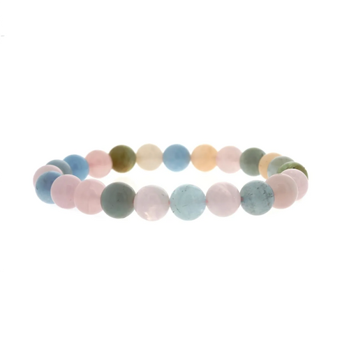 Aquamarine and Morganite Bracelet