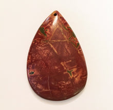 Load image into Gallery viewer, Picasso Stone Bead in burnt sienna pear shape perfect as a focal bead.
