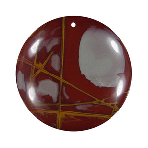 Noreena Jasper Bead domed round focal bead
