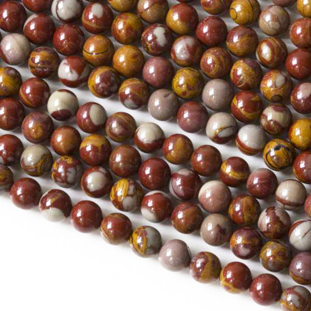Noreena Jasper Beads - one strand of 5.5mm round beads