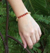 Load image into Gallery viewer, November Birthstone Citrine and Carnelian Elastic Bracelet