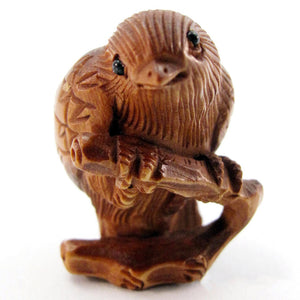 Bird bead Boxwood Ojime Bead
