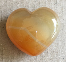 Load image into Gallery viewer, Orange Calcite Puffy Heart 30mm