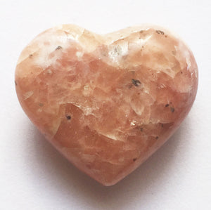 Orange Calcite Mini Puffy Heart for Joy in Partnership
