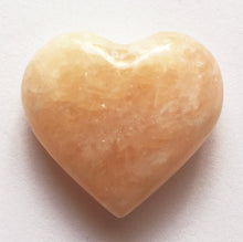 Load image into Gallery viewer, Orange Calcite Mini Puffy Heart for Joy in Partnership