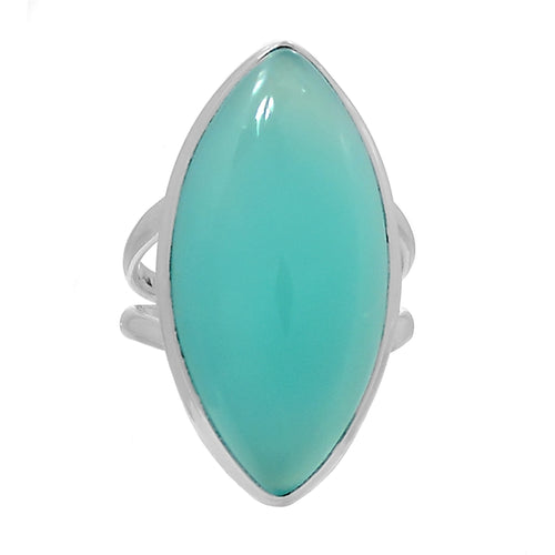 Paraiba Chalcedony Ring size 7 for greater spiritual vision, romance and dream messages. Great for July 3rd thru 12th individuals.