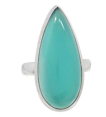 Paraiba Chalcedony Ring size 8 for greater spiritual vision, romance and dream messages. Great for July 3rd thru 12th individuals.