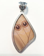 Load image into Gallery viewer, Pearl Blue Morpho Butterfly Wing Pendant in XL