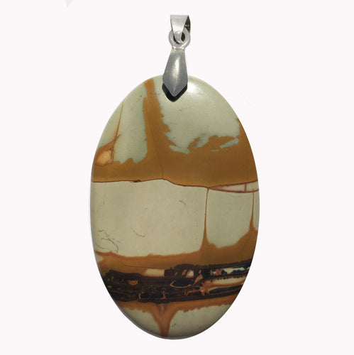 Picasso Jasper Pendant in big oval shape.
