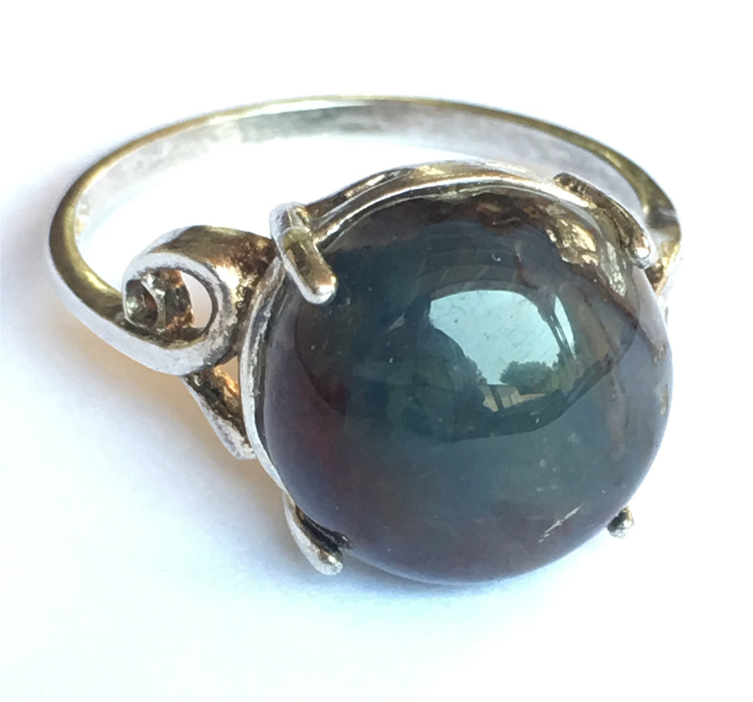 Pietersite Round Cabochon Ring in Size 7-1/2 marked down 70%.