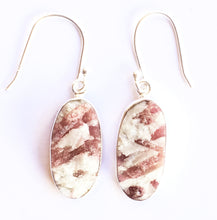 Load image into Gallery viewer, Pink Tourmaline In Quartz Earrings