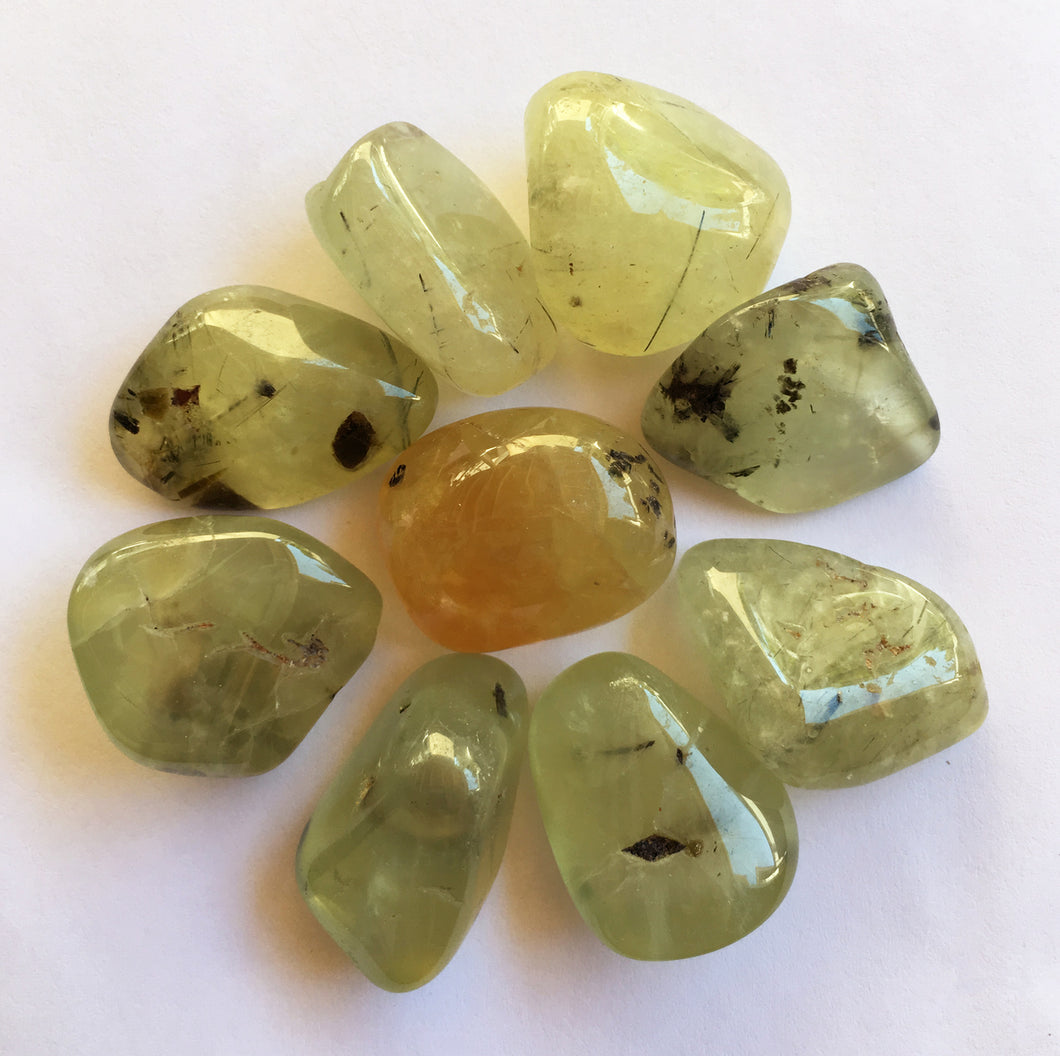 Prehnite Quarter Pound of Natural Tumbled Stones