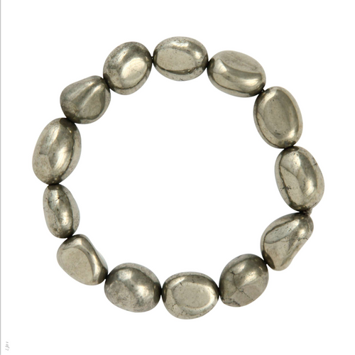 Pyrite Bracelet genuine gemstone stretch bracelet
