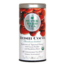 Load image into Gallery viewer, Reishi Cocoa Super Herb Caffeine-Free Tea