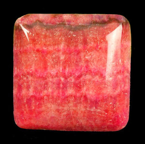 Rhodochrosite Cabochon from Argentina in a puffy-square