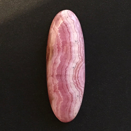 Rhodochrosite Cabochon from Argentina in elongated oval