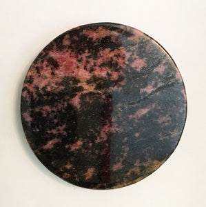 Rhodonite Coaster or Paper Weight