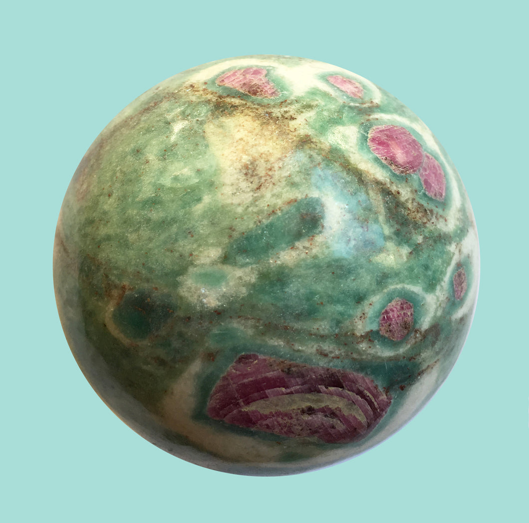 Ruby Fuchsite Sphere 1.75 inches