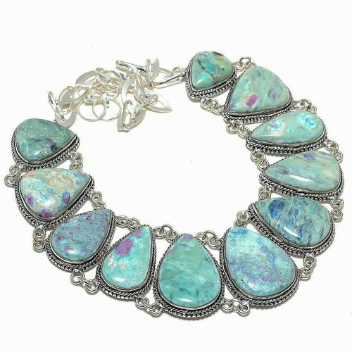 Ruby Fuchsite Collar Bib Necklace