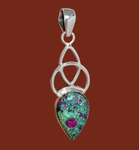 Ruby Fuchsite Pendant Celtic Design