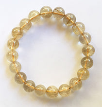 Load image into Gallery viewer, Golden Rutilated Quartz Beads Elastic Bracelet