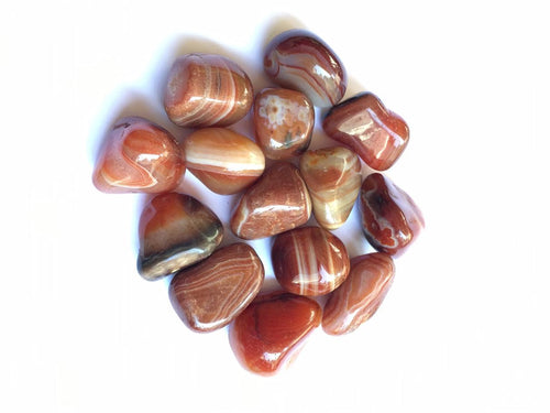 Sardonyx natural tumbled stones by the half pound