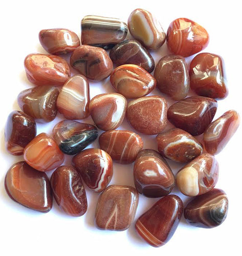 Sardonyx natural tumbled stones by the Pound - 1 pound