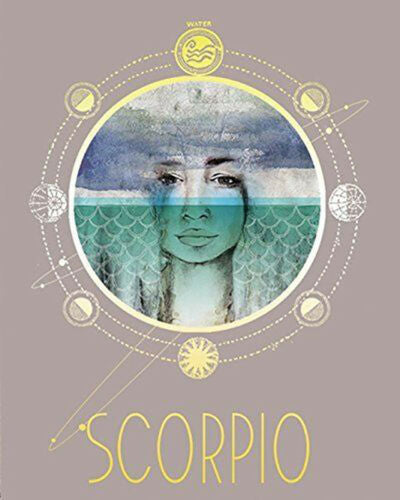 Scorpio Art Zodiac Print from Papaya Art