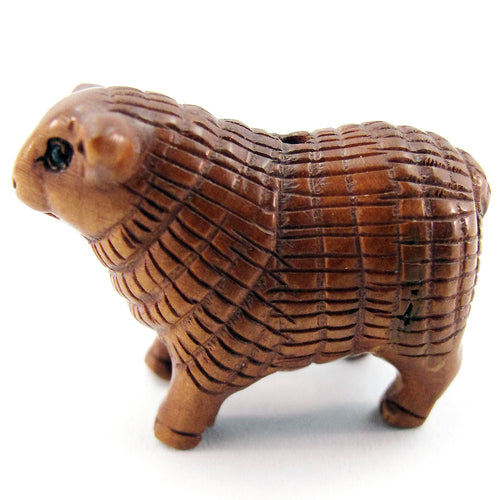 Sheep Ojime Bead