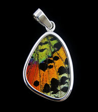 Load image into Gallery viewer, Sunset Moth Butterfly Wing Pendant small size