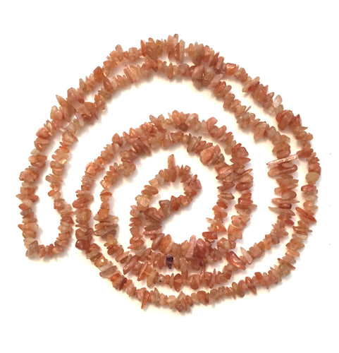 Sunstone Natural Gemstone Chip Necklace