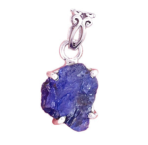 Tanzanite Pendant in rough or raw state set in sterling silver