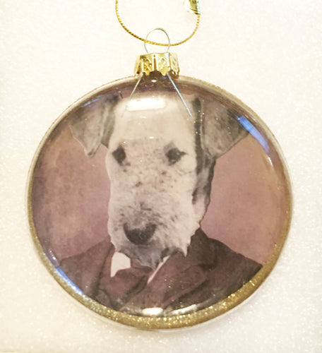 Airedale Terrier Diorama Ornament