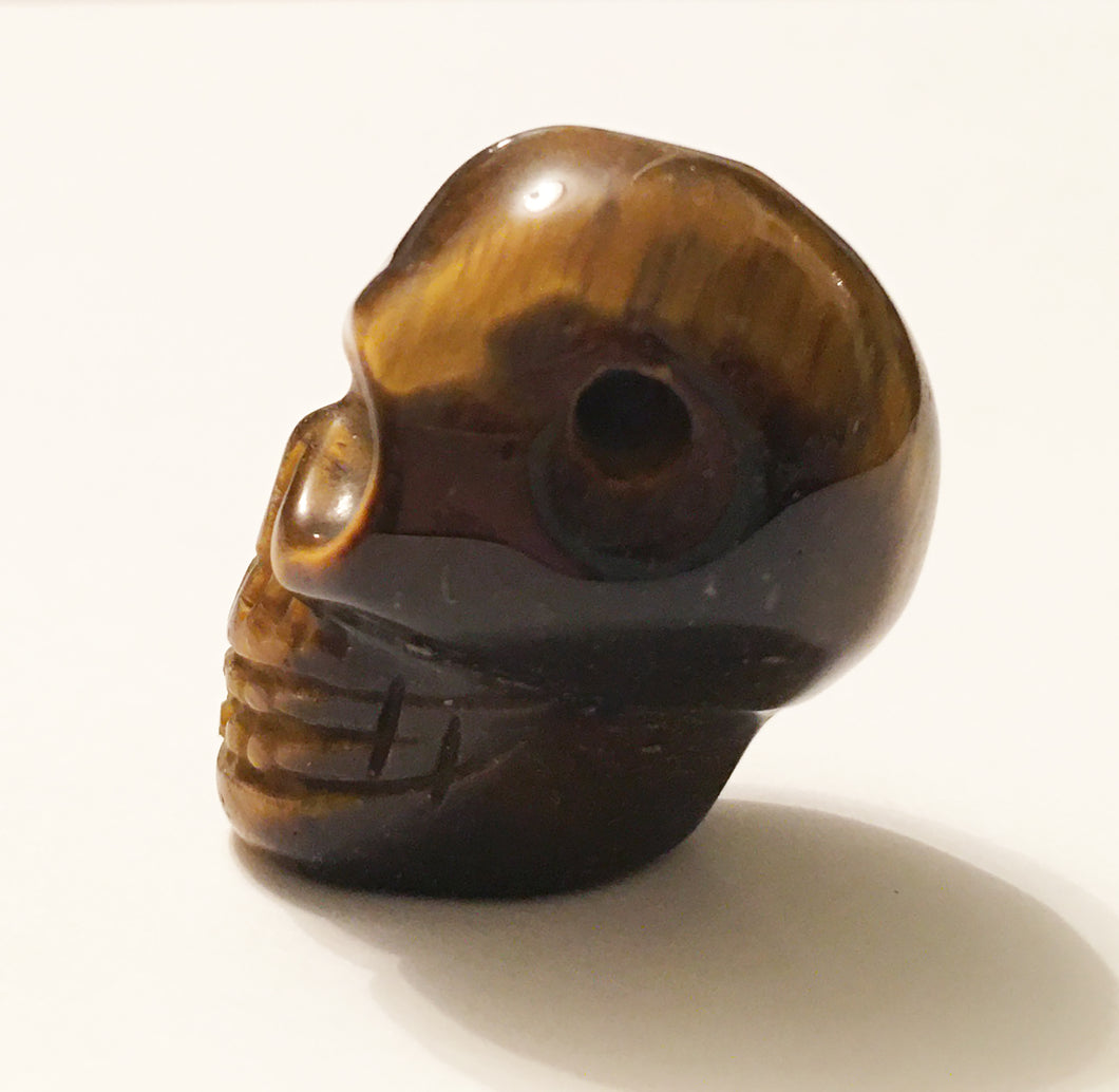 Tiger's Eye Skull Bead