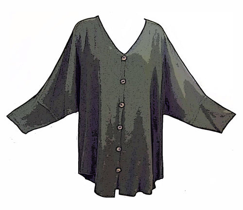 Tienda Ho Moroccan Sage Green Cotton Rayon Tiznit Top