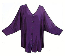 Load image into Gallery viewer, Tienda Ho Moroccan Royal Purple Cotton Rayon Tiznit Top