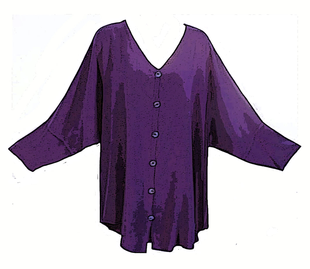 Tienda Ho Moroccan Royal Purple Cotton Rayon Tiznit Top