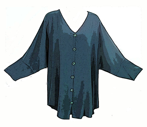 Tienda Ho Moroccan Teal Green Cotton Rayon Tiznit Top