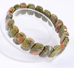 Unakite Beads Stretch Bracelet