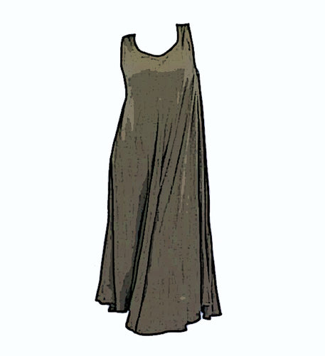Tienda Ho Green Cotton Rayon Dress from Morocco