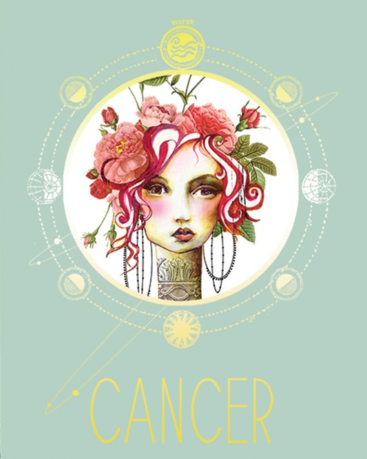 Papaya Art Sign of Cancer Zodiac Print
