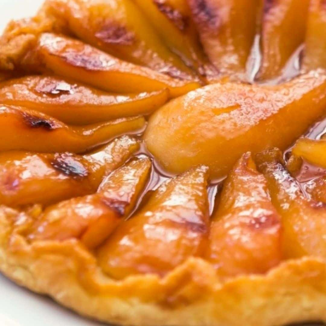 Week 4 Bake Off Winner Leanne Jones. Pear Tarte Tatin