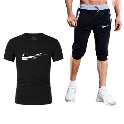 Summer fashion Sale Men's Sets T Shirts+short pants Two Pieces Sets Casual Tracksuit - Exclusive Fashions