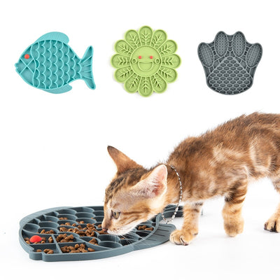 Fish Shape Silicone Bowl Dog Lick Mat Slow Feeding Food Bowl For Small Medium Dogs Puppy Cat Treat Feeder Dispenser Pet Supplies - Exclusive Fashions