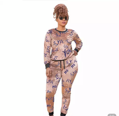 Say No Plus Size Beauty Track Suit - Exclusive Fashions