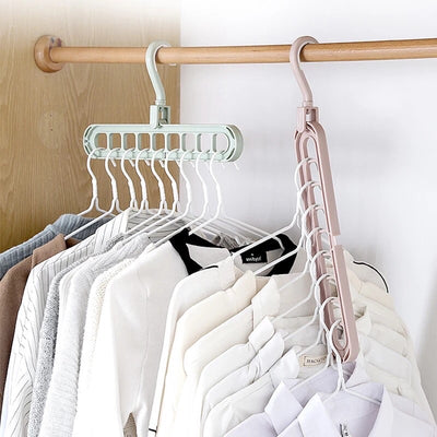 Best Hanger Worldwide 9 Holes Clothes Coat Hanger organizer Multi-port Support Clothes Drying Racks Plastic Cabinet Storage Rack Hangers For Clothes - Exclusive Fashions