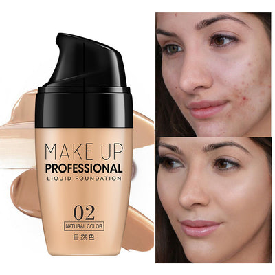 Face Make Up Liquid Foundation Cream Oil-control Easy To Wear Whitening Concealer Full Coverage Matte Base Facial Makeup - Exclusive Fashions