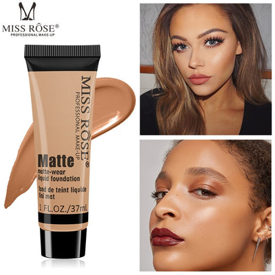 Dark Skin Base Covers Face Foundation Makeup Full Coverage Cream Facial Concealer Bronzer Make Up Liquid Contour Cosmetic - Exclusive Fashions